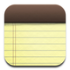 iPad Notes icon