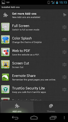 Dolphin Browser HD screenshot