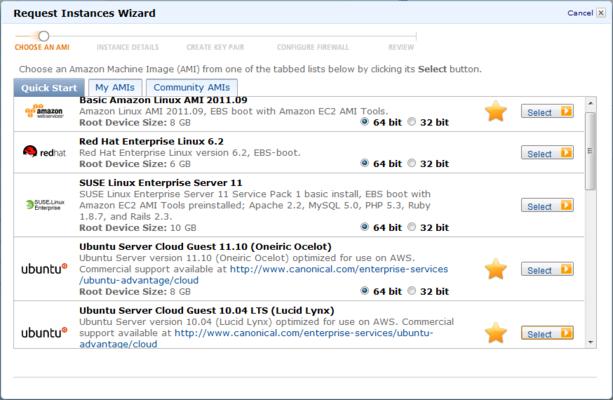 Amazon Web Services screenshot