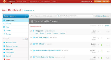 PollDaddy screenshot